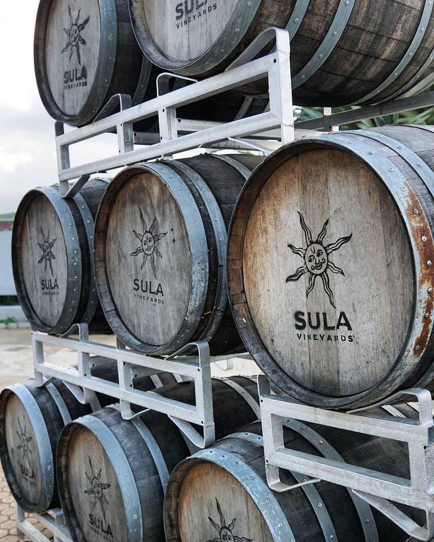 Sula Vineyards бочки для выдержки