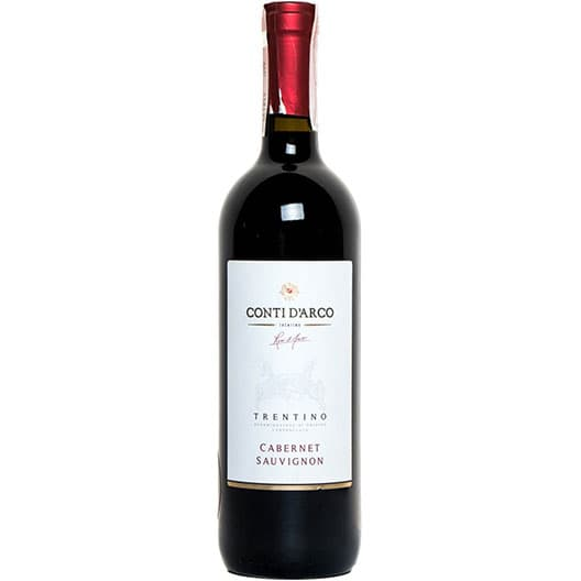 """Вино Mezzacorona """"Conti D'Arco"""" Cabernet Sauvignon Trentino DOC 2018"""