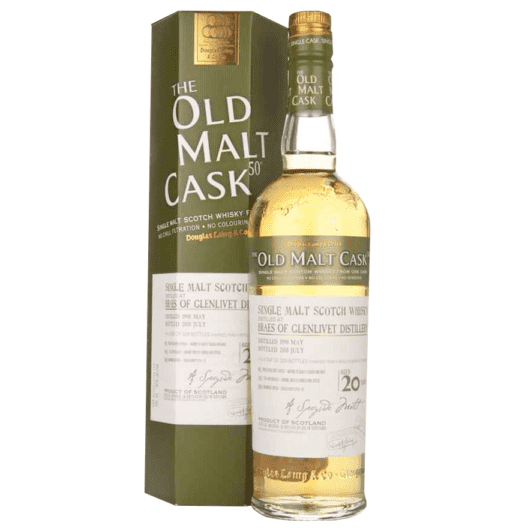 Виски Braes of Glenlivet 20 Year Old 1989–2009 Old Malt Cask