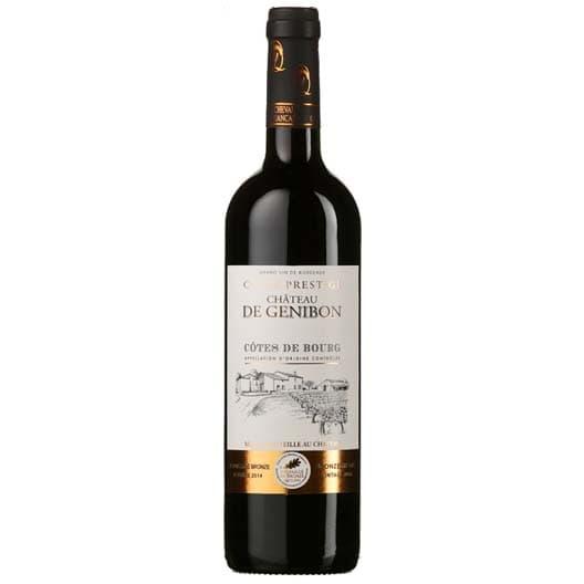 "Вино Chateau de Genibon, ""Cuvee Prestige"", Cotes de Bourg AOC"