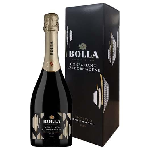 Игристое вино Bolla, Prosecco Superiore Conegliano Valdobbiadene DOCG в подарочной коробке