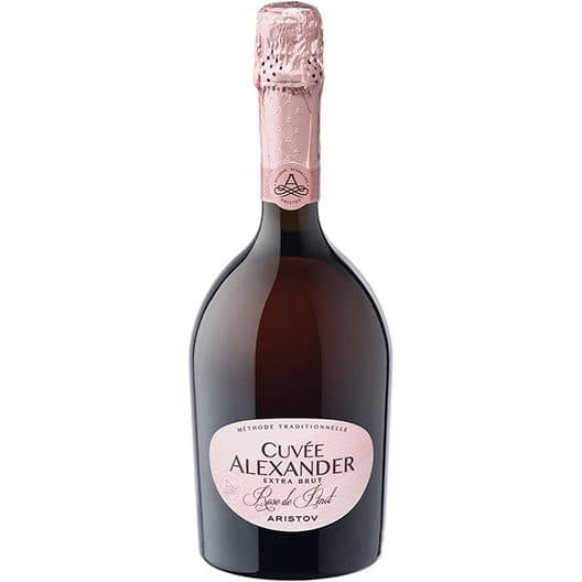 """Игристое вино Aristov """"Cuvee Alexander"""" Rose de Pinot Extra Brut"""