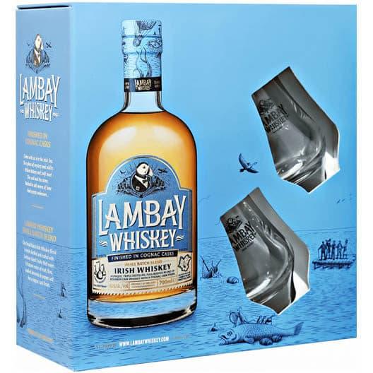 Виски Lambay Blended Irish Whiskey + 2 бокала