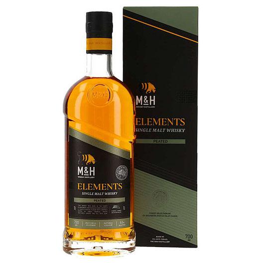 """Виски M&H, """"Elements"""" Peated"""