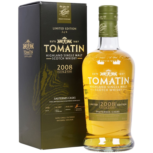 """Виски Tomatin """"French Collection"""" Sauternes 12 y.o."""