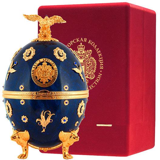 Премиум водка Императорская коллекция Графин Яйцо (синего цвета с камеями)